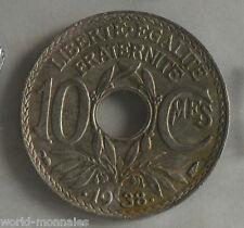 10 centimes lindauer .1938. maillechort : TB : pièce de monnaie française