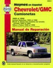 Chevrolet/GMC camionetas 1988 al 1998: Incluye Suburban 1992 al 1998, Blazer & J