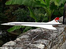 RARISSIME AVION CONCORDE BRITISH AIRWAYS 1/72 MAQUETTE AGENCE EN BOITE 85CM