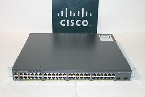 Cisco WS-C2960X-48FPD-L 48 POE+ GE+2 10G SFP+, LAN BASE (740W)