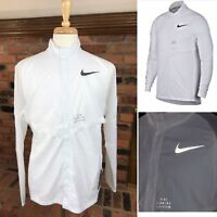 NIKE Running Division Packable Jacket Lightweight Vented ~ Men's L/XL White