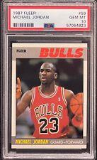 1987 Fleer Michael Jordan Chicago Bulls #59 Basketball Card PSA 10 GEM MINT