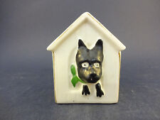 """Podmore China Model of a Dog/Kennel: """"Black Watch"""" With Matlock Bath Crest"""