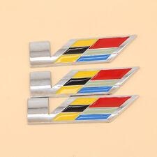 3Pcs For Cadillac CTS ATS XLR SLS Trunk Fender V SERIES rear Emblem Badge Decal
