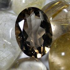 4cts 100% Natural AAA+ Brazilian Ring Size Clear Smoky Quartz Faceted FR Oval