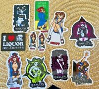 Vintage Hook Ups vINYL Stickers Set of 11 Original Early 2000s Hookups