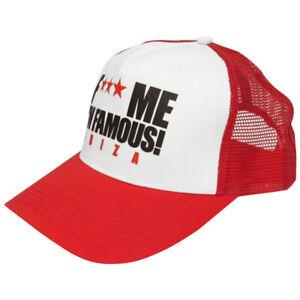 David Guetta F Me I'm Famous Ibiza Red Trucker Cap FMIF Logo Snapback Hat Mesh