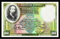 SPAIN 1931 1000 PESETAS ☆ ZORILLA  ☆ P-84Aa ☆ PCGS GEM - 66 OPG ☆ VERY RARE ☆