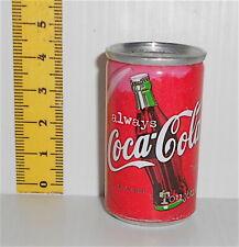 COCA COLA 90s italy tiny tin can gadget - miniatura lattina piena da collezione