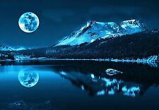 Stampa incorniciata-Blue Moon Glow di un lago di montagna (PICTURE POSTER SCENIC vista)