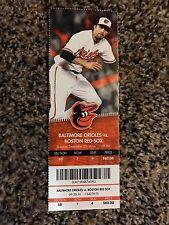 2016 Trey Mancini MLB Debut BALTIMORE ORIOLES RED SOX Season Ticket 9/20 1ST HR