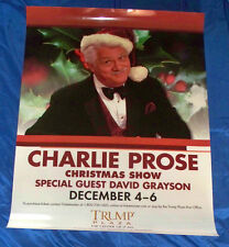 Charlie Prose Christmas Show Rare Duratran Light Box Poster Atlantic City 2009