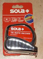 Sola Rollbandmaß Bandmaß Tri-Matic TM 8 m / 25 mm EC II