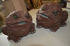 Toad Hollow Frog Garden Magic Decor Evil Horror Halloween Statue Figures VTG 90s