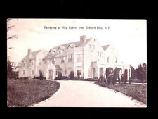 1910 Mrs. Robert Hoe Home Bedford Hills NY postcard Westchester County
