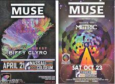 MUSE Metric Biffy Clyro NY  Concert Handbill x 2 Mini Poster