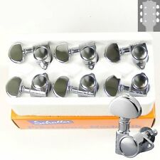 Schaller M6 Vintage tuners/machine Heads, 3x3 Chrome, 10110223.13.36