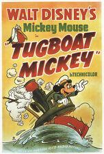 Tugboat Mickey1940 Cult Dibujos Animados Disney Cartel de Película Estampado