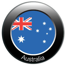 "AUSTRALIA Badge car bumper sticker decal 4"" x 4"""
