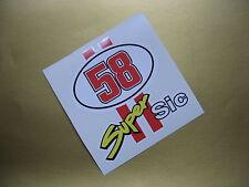 Marco Simoncelli 58 Super Sic STICKER/DECAL x2