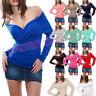 Maglietta blusa maglia donna scollo V jersey viscosa sottogiacca AS-0143