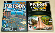 2 PC SPIELE SET - PRISON TYCOON 1 & 2 - MAXIMUM SECURITY