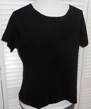 COLDWATER CREEK Plus size TOP 1X Black Womens NWT 39.00