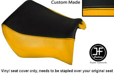 BLACK & YELLOW VINYL CUSTOM FITS YAMAHA MT 03 06-13 FRONT RIDER SEAT COVER ONLY