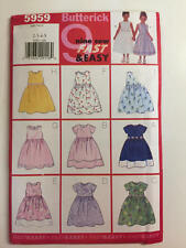 Vintage Butterick Pattern 5959 Girls Dress Size 2,3,4,5 New Uncut Fast & Easy