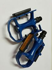 PEDALI ALLUMINIO BLU MOUNTAIN BIKE MTB BICICLETTA FIXED BICI