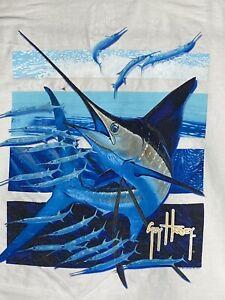 Guy Harvey AFTCO Vintage '13 Sailfish Pinfish Mens T-shirt Large Short Sleeve