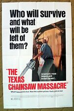 """The TEXAS CHAINSAW MASSACRE"" Tobe Hooper's horror classic - Movie poster"