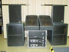 DJ PA-Anlage Musikanlage HK Hughes&Kettner Endstufen 2x1200W Frequenzweiche etc.
