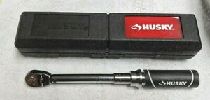 """HUSKY 1/4"""" Drive (40-200in lbs) Torque Wrench w/ Case"""