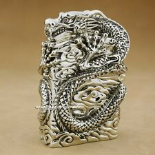 Unique Luxury Hand-carved Huge Heavy Lighter Shell Cupronickel Fly Dragon 6W001S