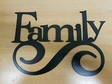 Family sign metal wall art plasma cut home decor gift idea