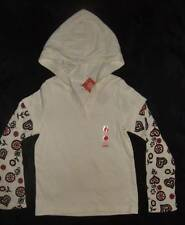 NWT ~ Gymboree ALPINE SWEETIE ivory hooded double-sleeve knit top ~ girls 7