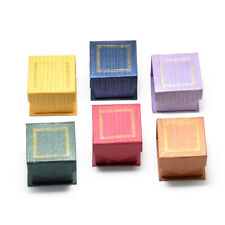 24 Magnetic Cardboard Jewelry Boxes Ring Square Mix Color Case Organizer Storage