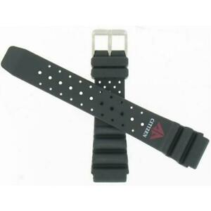 Genuine Citizen 59-97541 20mm Black Rubber Watch Band for Aqualand Promaster