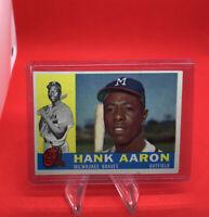 1960 Topps Hank Aaron Milwaukee Braves #300 Baseball Card
