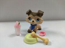 Littlest Pet Shop LPS#893 Brown Collie Dog w/accessories Kid Toy