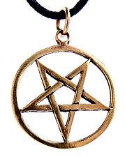 Nº 28 colgantes de pentagrama bronce pentagrama Satán diablo magia negra Pentacle