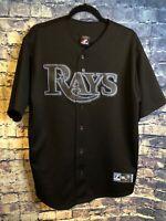 Tampa Bay Rays Evan Longoria #3 Majestic Black Jersey Adult Xl Free Shipping🔥⚾️
