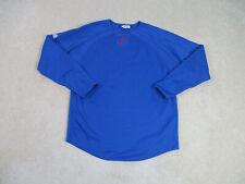 Majestic Philadelphia Phillies Shirt Adult Medium Blue Long Sleeve Baseball Men
