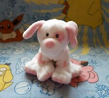 Ty Beanie Babies Pluffies Pink and White Dog Plush Puppy Baby 10""