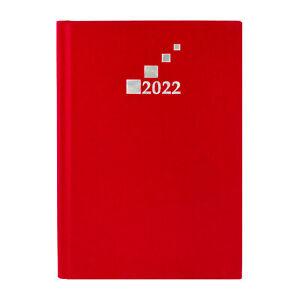 Wochenkalender 2022 Rot DIN A5 Terminplaner Wochentimer mit vielen Extras