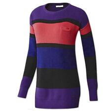 adidas Damen NEO Strickpullover Pullover Stripe Sweater Longpullover purple NEU