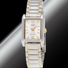 Casio LTP-1235SG-7A Ladies Analog Steel Watch Silver and Gold Tone Stainless