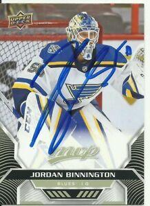 JORDAN BINNINGTON AUTOGRAPHED ST. LOUIS BLUES CARD