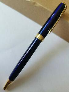 2PCS Parker Sonnet Series Ballpoint Pen Blue Gold Trim With 0.7mm Black Ink